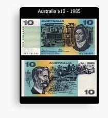 Australia $10 - 1985 Canvas Print