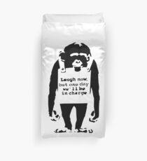 Funda nórdica Banksy ríe ahora pero un día estaremos a cargo del mono