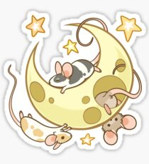 Moon Mice Sticker