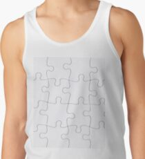 Jigsaw Puzzle Lines Design Tank Top