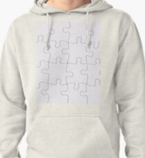 Jigsaw Puzzle Lines Design Pullover Hoodie