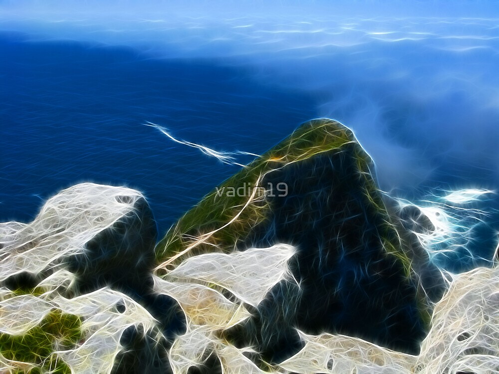 Fog over Cape Point, South Africa by vadim19