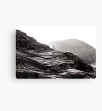 where cornish slate meets the sea Canvas Print