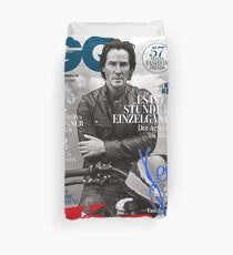Keanu Reeves GO Magazine (With His Signature) Duvet Cover