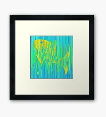 Fish in sea colors. Exclusive geometric style Framed Print