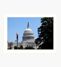 Capital Building, Washington DC Art Print