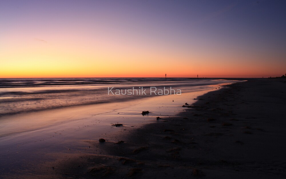 A Calm Sunset by Kaushik Rabha