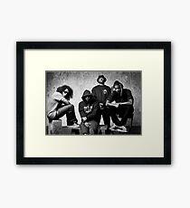 Black Hippy B/W Framed Print