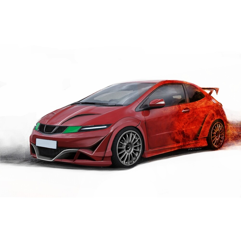 Honda Civic Type R Red JDM Japan Car by artrace