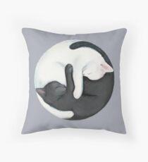 Yin Yang Balancing Cats Floor Pillow