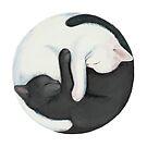 Yin Yang Balancing Cats by stylecomfy