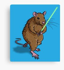 Rat Jedi Canvas Print