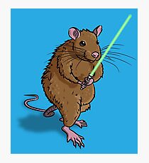 Rat Jedi Photographic Print