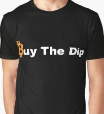 Buy the Dip - Bitcoin Logo Black Graphic T-Shirt