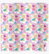 Playful Fairies - Fairy Pattern  Poster