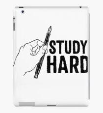 Study Hard Sticker & T-Shirt - Gift For School Student College iPad Case/Skin
