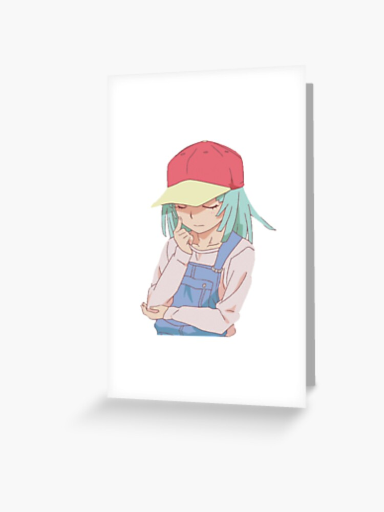 Nadeko Sengoku Thinking | Greeting Card