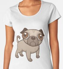 Pug Puppy Cartoon Women's Premium T-Shirt