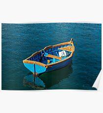 Little Boat Blue Poster