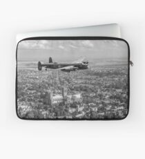Lancaster City of Lincoln over Lincoln B&W version Laptop Sleeve