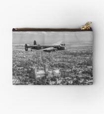 Lancaster City of Lincoln over Lincoln B&W version Studio Pouch