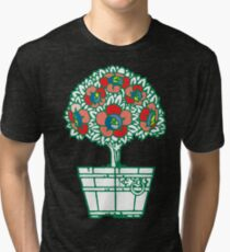 Blossoming topiary tree 2. Vintage fantasy Tri-blend T-Shirt