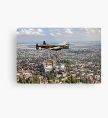 Lancaster City of Lincoln over Lincoln  Metal Print
