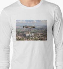 Lancaster City of Lincoln over Lincoln  Long Sleeve T-Shirt