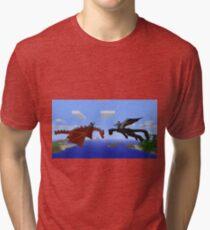 Minecraft- Dragon Tri-blend T-Shirt