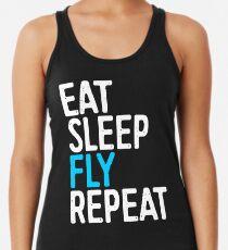 Eat Sleep Fly Repeat Women's Tank Top