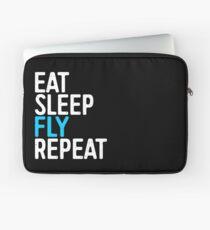 Eat Sleep Fly Repeat Laptop Sleeve