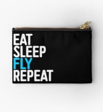 Eat Sleep Fly Repeat Studio Pouch