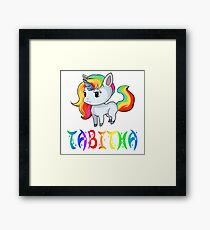 Tabitha Unicorn Framed Print
