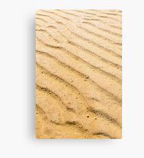 Sand Pattern Background Metal Print