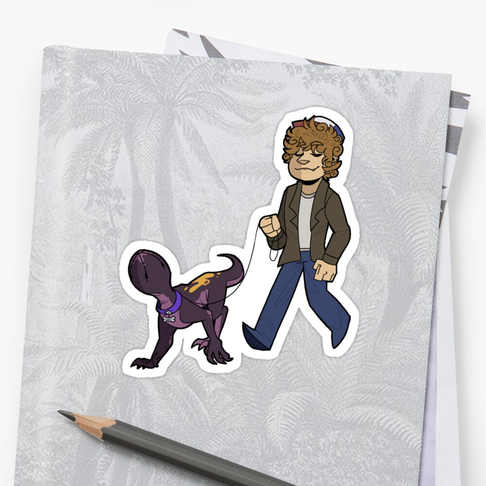 Quot Dart And Dustin Quot Sticker By Edgytom Redbubble
