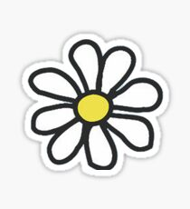 life is good flower white Sticker