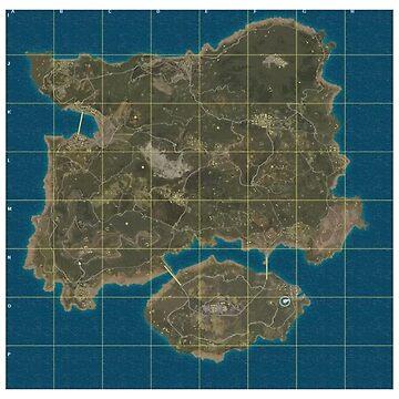 Erangel Map by Hortaemcasa