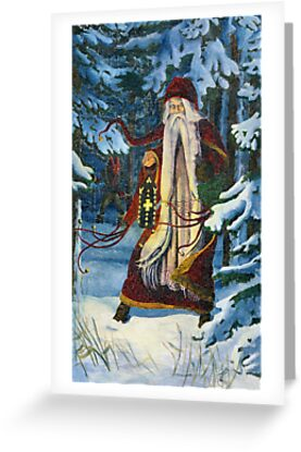 Greetings from Kris Kringle and the Krampus! by Elisabeth Wyrwicz