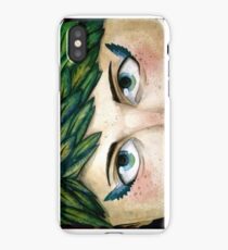 Feathery Winged Eyeliner. Literally! iPhone Case