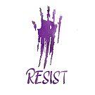 Resist Purple Handprint by QueerHistory