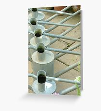 Watering cans Greeting Card