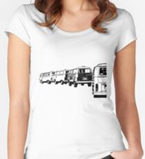 VW Convoy Women's Fitted Scoop T-Shirt