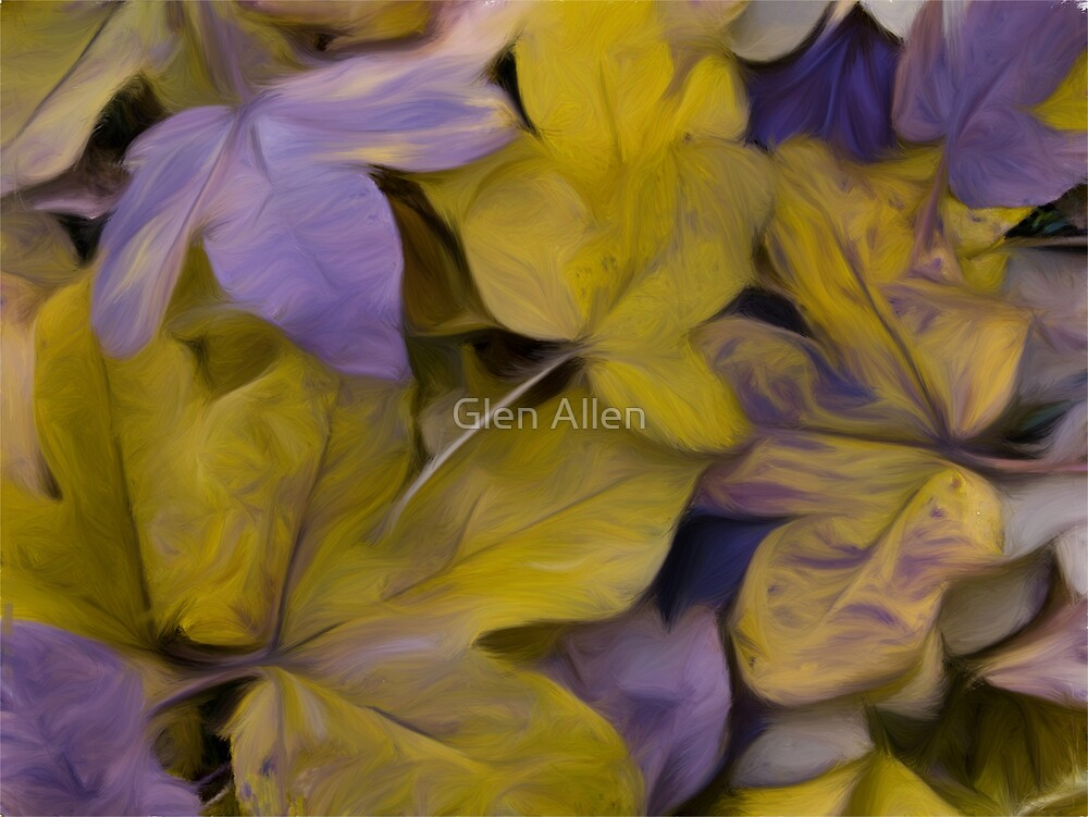 Autumnal leaves Oil Effect by Glen Allen