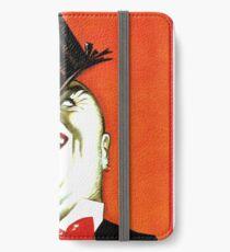 Italian Booze Vintage Advert Creepy Man in Tux iPhone Wallet/Case/Skin