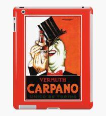 Italian Booze Vintage Advert Creepy Man in Tux iPad Case/Skin