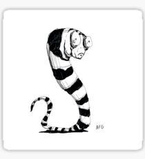 Bug Eyed Black and White Striped Snake...Thing? Sticker