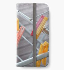 Pegs on a Line iPhone Wallet/Case/Skin