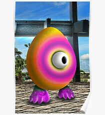 Saturated Egg Man Poster
