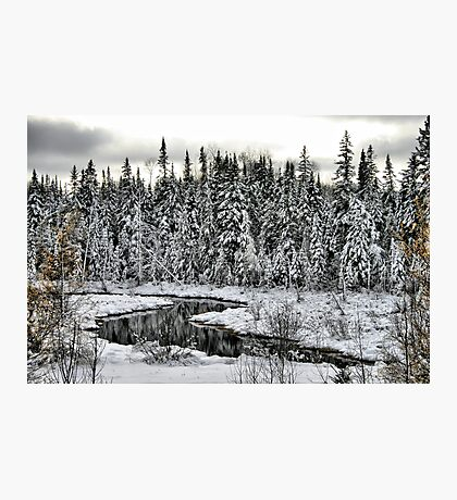 White Winter River Photographic Print