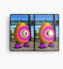 Saturated Egg Man Combined Metal Print
